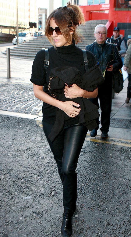 Caroline Flack leaving hotel in Birmingham, UK 16 January