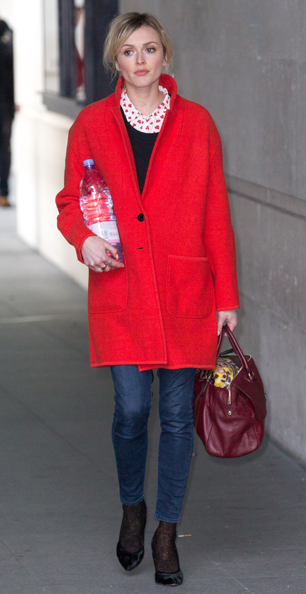 Fearne Cotton on the way to work, 16/1/15