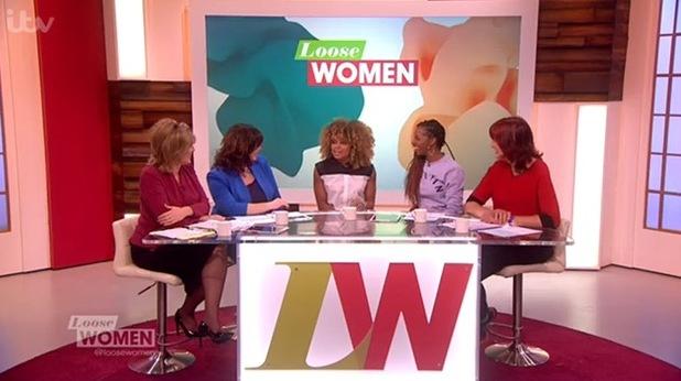Fleur East on 'Loose Women' on January 13, 2015 in London, England.