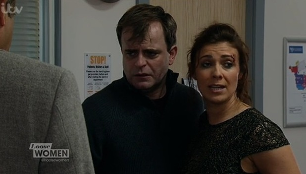 Kym Marsh in Coronation Street preview as Michelle Connor. January 2015.