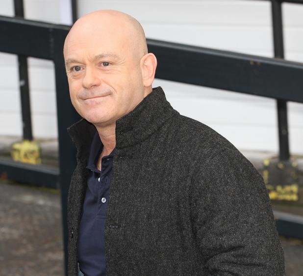 Ross Kemp outside ITV studios -  4 February 2014.