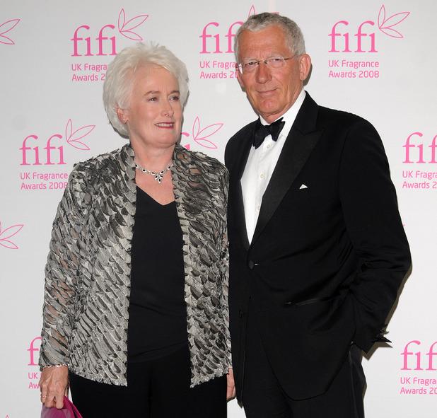 The Apprentice stars Margaret Mountford and Nick Hewer at the Fifi fragrance awards 2008 at the Dorchester Hotel - arrivals - 23/4/2008.
