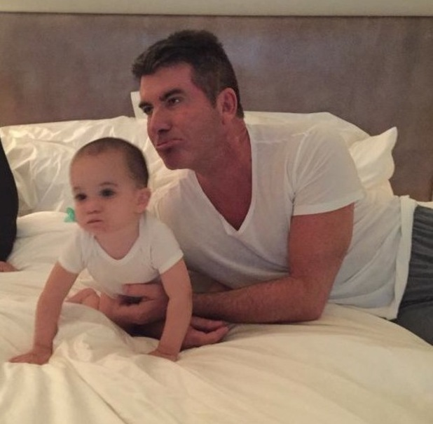 Simon Cowell and baby son Eric Cowell wear matching outfits - 16 Jan 2015