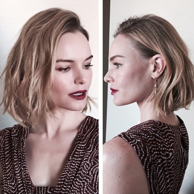 Kate Bosworth gets a new bob haircut, courtesy of hairdresser Harry Josh - 13 January 2015