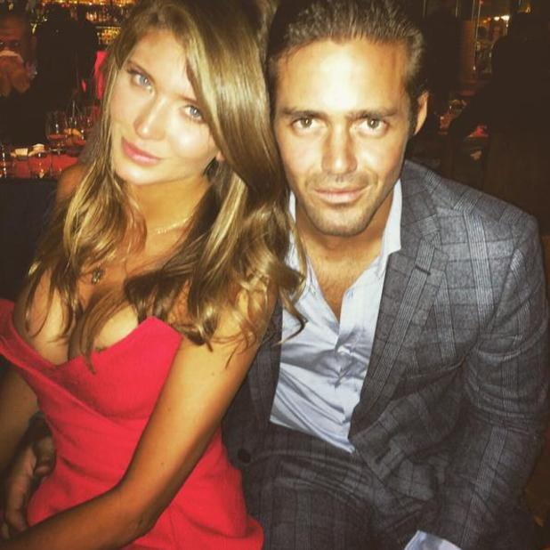 Made In Chelsea's Spencer Matthews and Lauren Frazer Hutton show off holiday glow in new photo - 16/1/2015.