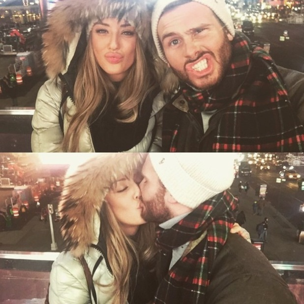 Charlotte Crosby and Mitch Jenkins kiss in New York 15 January