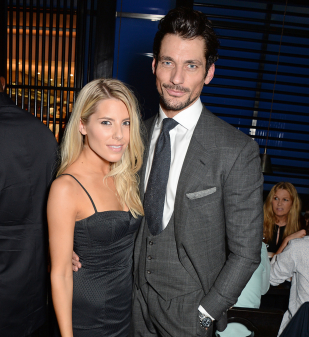 Mollie King and David Gandy attend the GQ London Collections: Men closing dinner in London - 12 January 2015