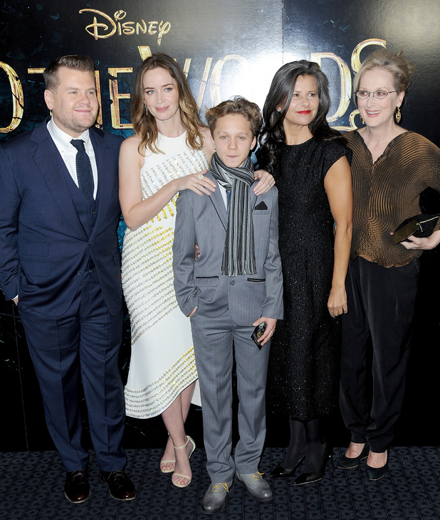 Emily Blunt joins Into The Woods cast at London Premiere 7 January
