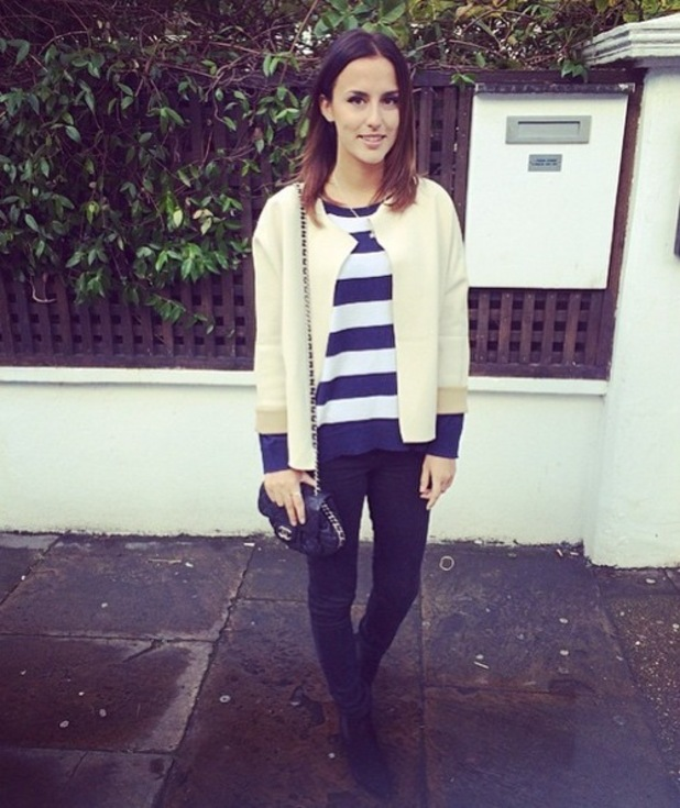 Lucy Watson out for lunch with Stevie Johnson, The Phene, London 13 January