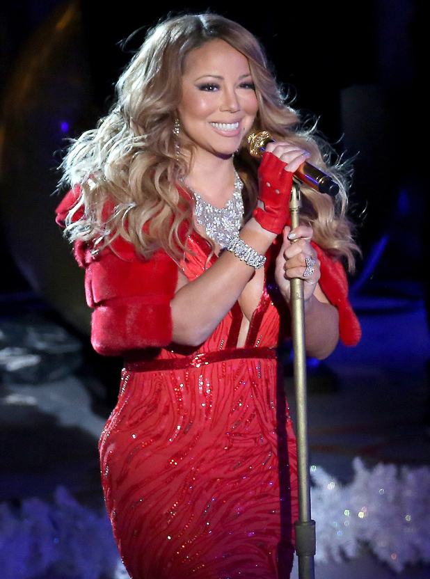 Singer Mariah Carey performs at the 82nd Annual Rockefeller Center Christmas Tree Lighting on December 3, 2014 in New York City.