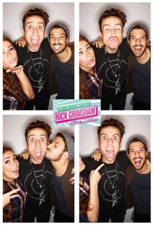 Nikki Sanderson and Danny Mac appear on the BBC Radio 1 Breakfast Show - 15/1/2015