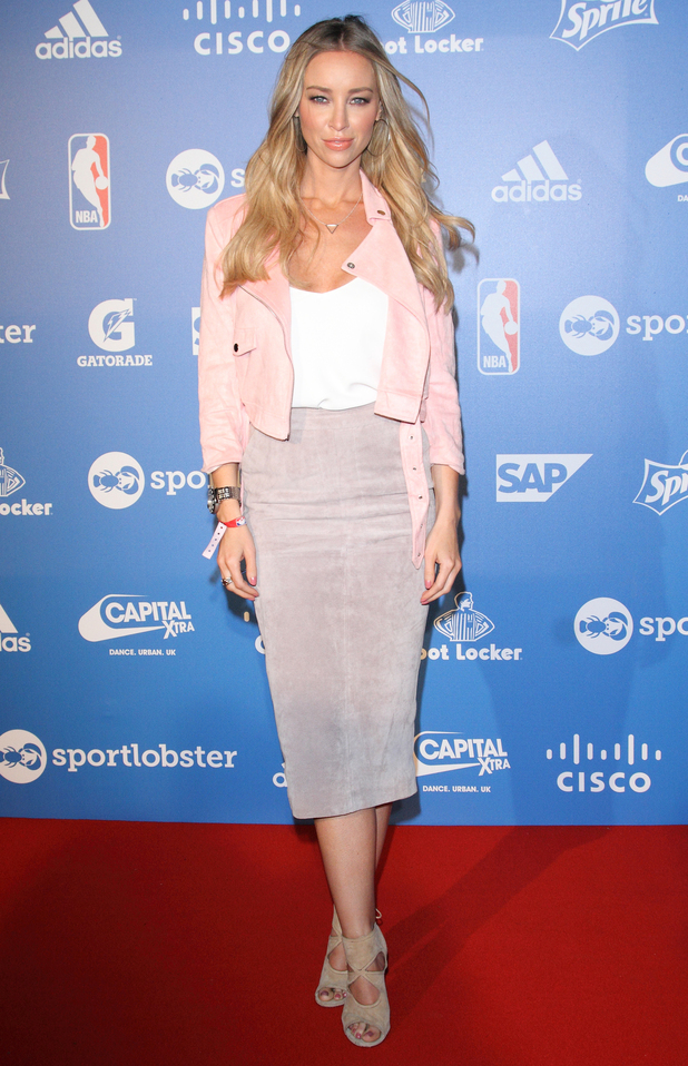 Lauren Pope attends the NBA Global Games Tip-off Party, held at the Millbank Tower in London - 14 January 2015