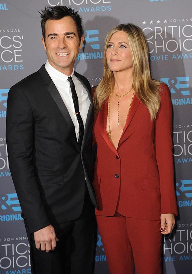 Jennifer Aniston and Justin Theroux at 20th annual Critics' Choice Movie Awards at the Hollywood Palladium, 15 January 2015