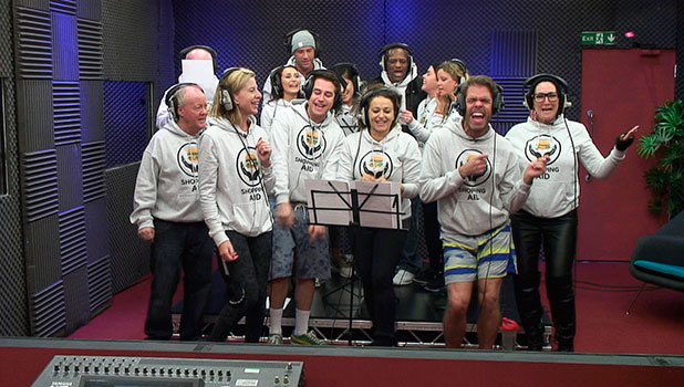 CBB: Celebrities record charity single for shopping task, 11 January 2015