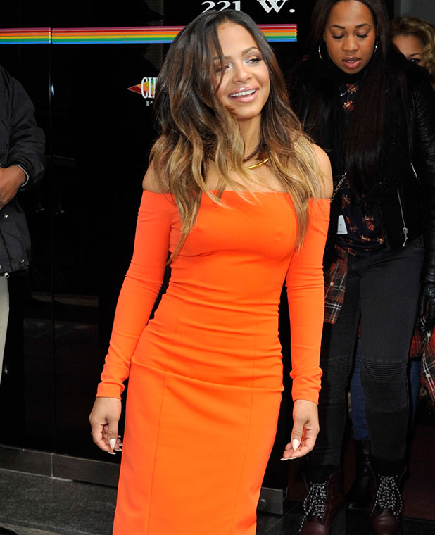 Christina Milian at 'The Wendy Williams Show', 16 January 2015