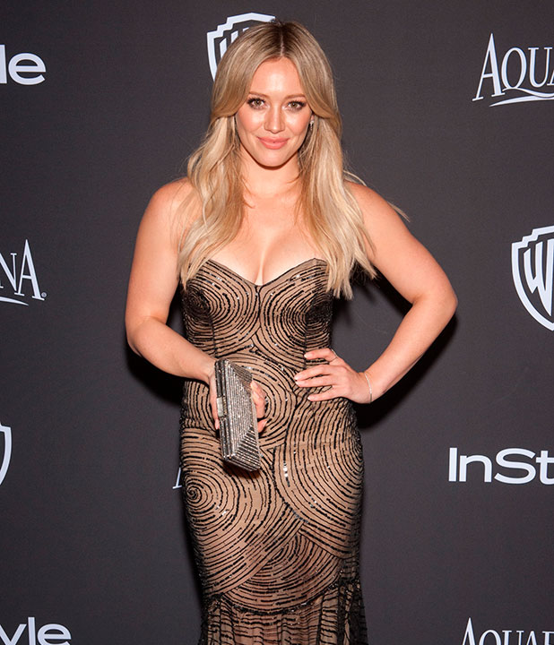 Hilary Duff at 16th Annual InStyle and Warner Bros. Golden Globe afterparty - Arrivals, January 2015