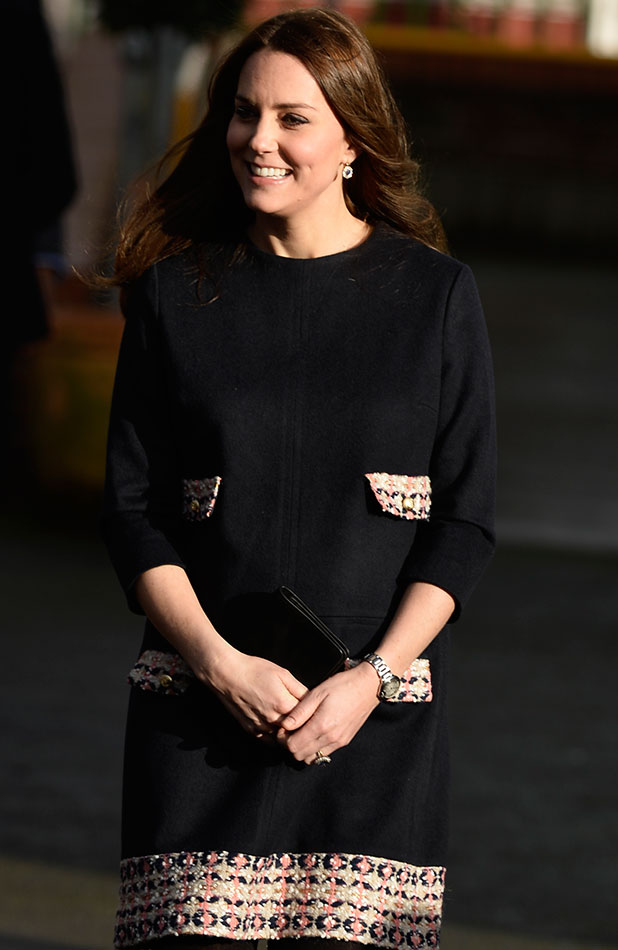 Catherine the Duchess of Cambridge officially names the Clore Art room at Barlby Primary School in London, 15 January 2015