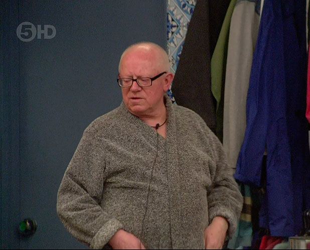 Ken Morley on 'Celebrity Big Brother', Shown on Channel 5 HD