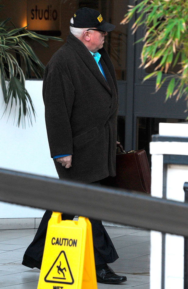 Ken Morley leaves the ITV studios the day after being removed from the Celebrity Big Brother house for using 'unacceptable and offensive' language, 13 January 2015