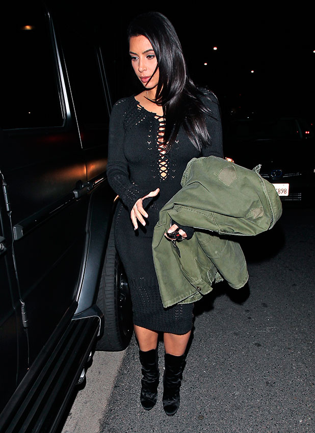 Kim Kardashian and Kanye West leave Giorgio Baldi restaurant after having dinner together in Santa Monica, 16 January 2015
