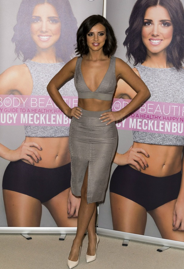 Lucy Mecklenburgh's 'Be Body Beautiful' book launch, London, Britain - 13 Jan 2015