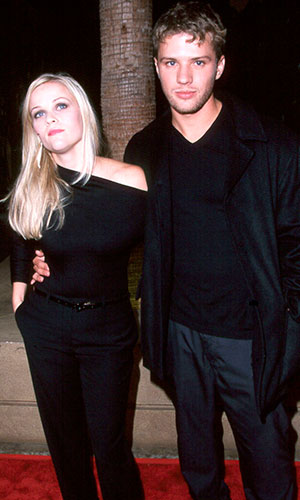 "Ryan Phillippe and wife Reese Witherspoon at the premiere of ""Way of the gun"" in Hollywood, 2000"