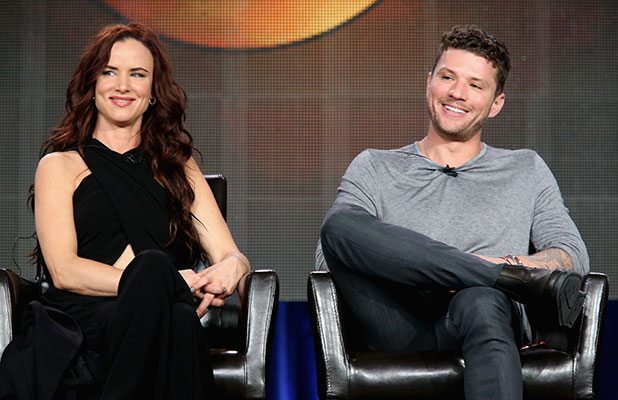 uliette Lewis and Ryan Phillippe onstage during the 'Secrets and Lies' panel at the Disney/ABC Television Group portion of the 2015 Winter Television Critics Association press tour at the Langham Hotel on January 14, 2015 in Pasadena, California.