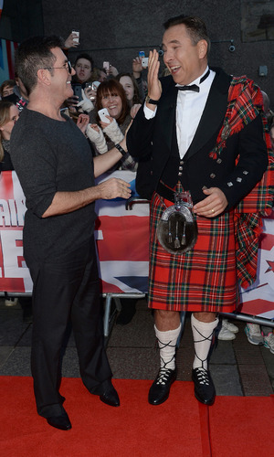 Simon Cowell and David Walliams at the Britain's Got Talent auditions, Edinburgh, Scotland 19 January