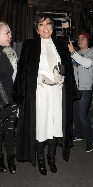 Kris Jenner leaving Mr Chow restaurant in Knightsbridge, London. 01/22/2015