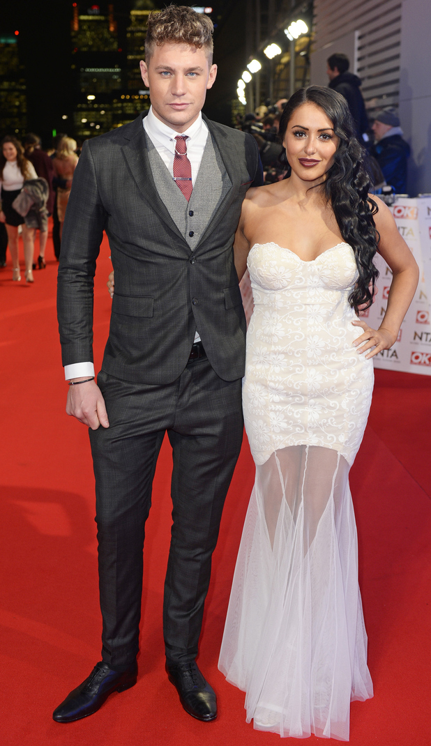 Marnie Simpson and co-star Scott Timlin on red carpet at NTAs, The O2, London 21 January