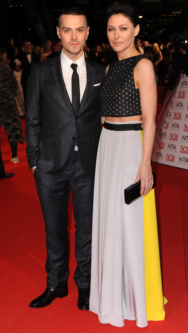 Emma Willis and Matt Willis attend the National Television Awards 2015 held at The O2 in London - 21 January 2015