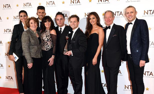 I'm A Celebrity stars backstage with NTA award, The O2, London 21 January
