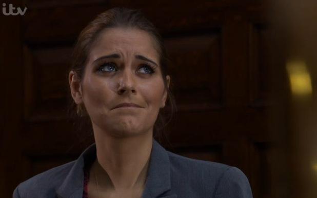Gemma Oaten makes surprise return as Rachel Breckle in Emmerdale - 20 January 2015.