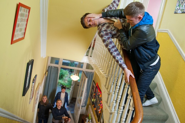 Hollyoaks, Ste threatens Connor, Mon 26 Jan