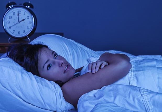 Girl unable to sleep