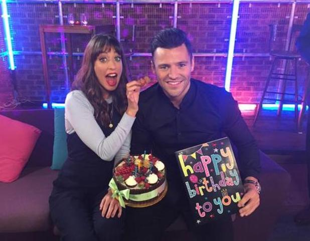 Mark Wright celebrates 28th birthday with Take Me Out: The Gossip co-host - 19/1/2015.