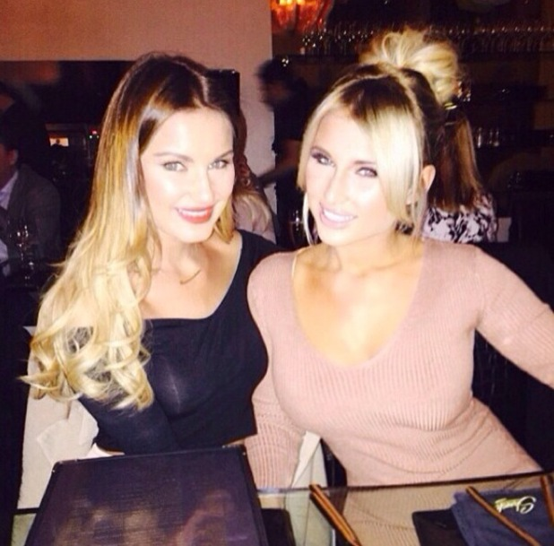 Billie Faiers and sister Sam on her birthday night out 18 January