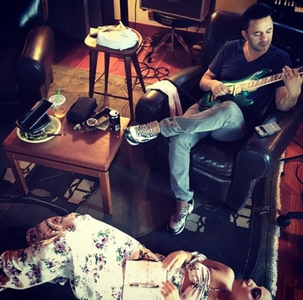 Lady Gaga makes music with producer RedOne - 21/1/2015.