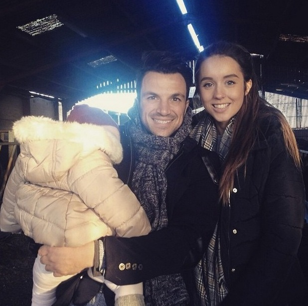Peter Andre, Emily MacDonagh spend day at farm with Amelia, Junior and Princess, January 2015