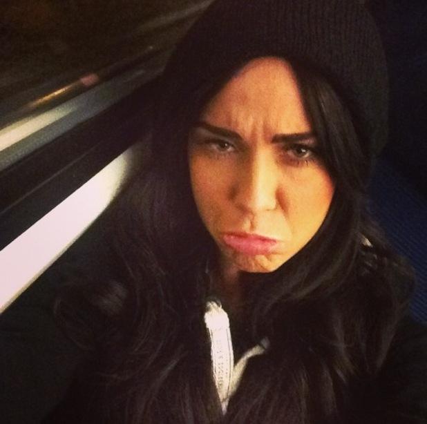 Vicky Pattison takes train selfie after 5am start 21 January