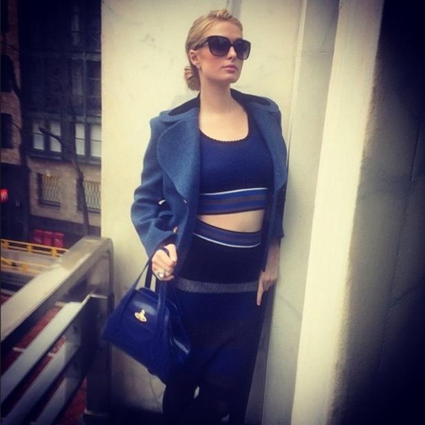 Paris Hilton poses in Milan, Italy - 21 January 2015