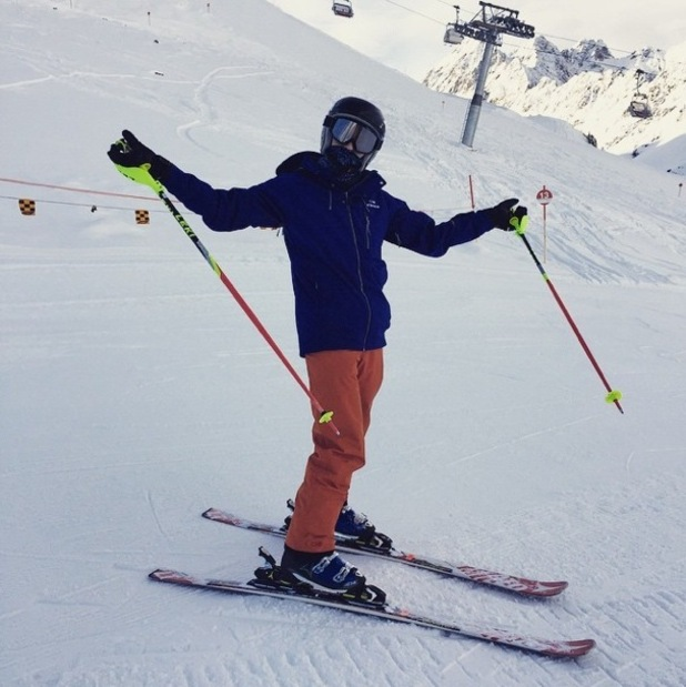 Joey Essex back on skis after injury 20 January