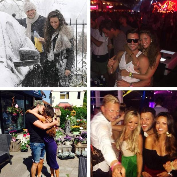 Michelle Keegan shares cute photos of Mark Wright as she celebrates his birthday - 20/1/15.