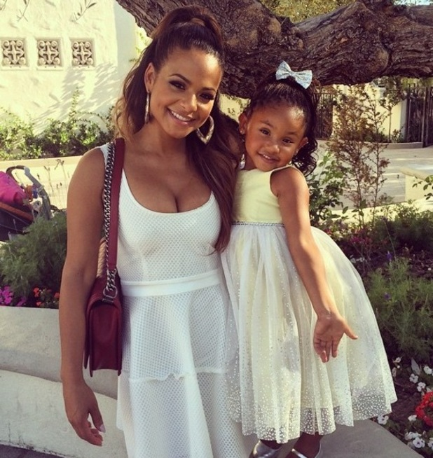 Christina Milian and her daughter Violet - October 2014.