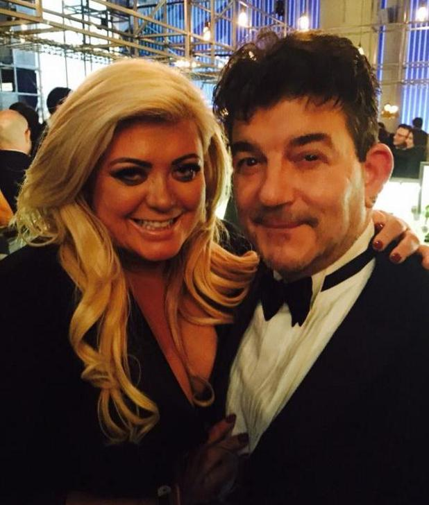 Gemma Collins poses with EastEnders actor John Altman, aka Nick Cotton, at the National Television Awards - 21 January 2015.