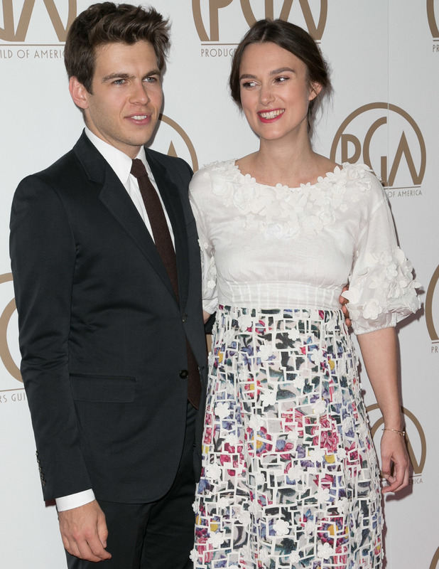 Keira Knightley at the Producers Guild Awards with hubby James Righton, 24 Jan 2015.