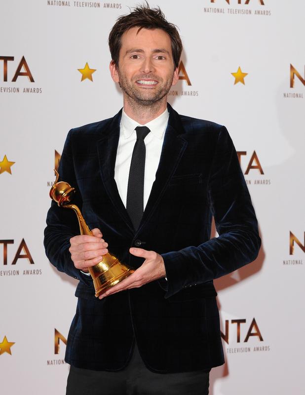 David Tennant wins the 'Special Recognition' Award at NTAs, The O2, London 21 January