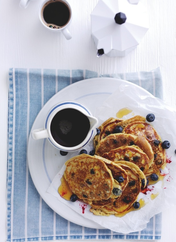 American-style blueberry pancakes