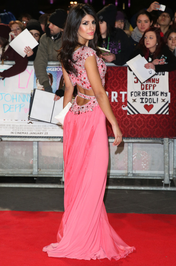 TOWIE's Jasmin Walia attends the Mortdecai film premiere in London's Leicester Square - 19 January 2015