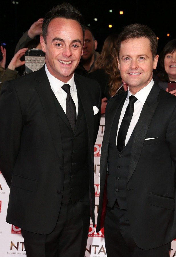 Ant & Dec' Anthony McPartlin and Declan Donnelly of attends the National Television Awards at 02 Arena on January 21, 2015 in London, England. (Photo by Mike Marsland/WireImage)